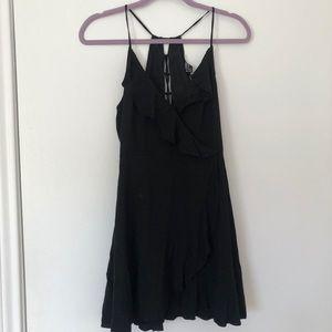 Forever 21 Wrap Dress Black Medium